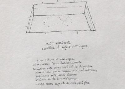 1969 - VASCA PER CONTENERE SCULTURE DI ACQUA NELL'ACQUA